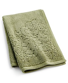 "Sculpted Floral Cotton 16"" x 26"" Hand Towel"