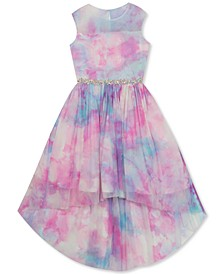 Big Girls Tie-Dye High-Low Dress
