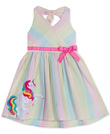 Baby Girls Rainbow Unicorn Halter Dress