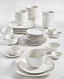 Whiteware 42-Piece Dinnerware Set, Service for 6, Created for Macy's