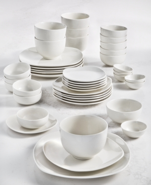 Inspiration by Denmark Soft Square 42-Pc. Dinnerware Set, Service for 6