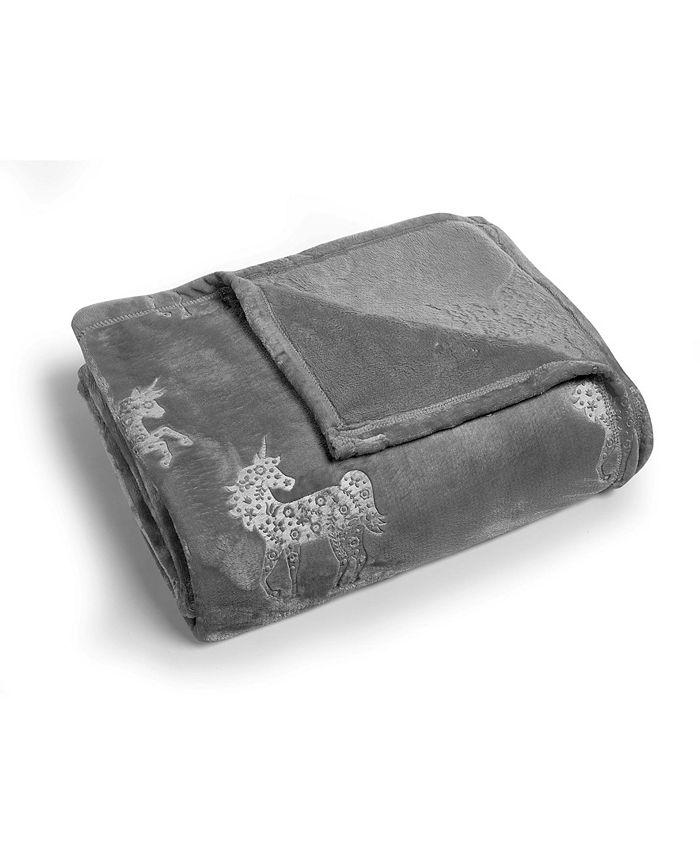 Morgan Home - Unicorn Dreams Velvet Plush Twin Blanket