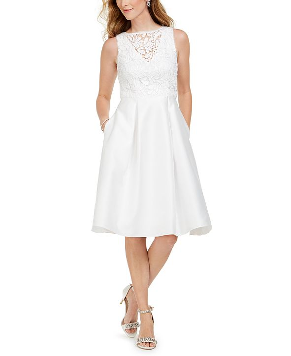Adrianna Papell Embellished-Lace Midi Dress