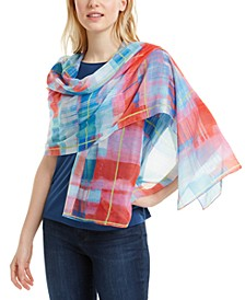 Painterly Plaid Wrap