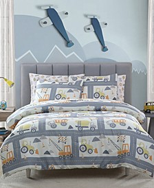 MHF Home Kids Construction Land Full Comforter Set
