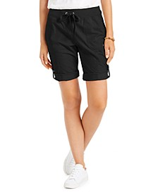 Roll-Tab Drawstring Shorts