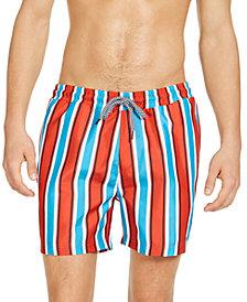 """INC Men's Carter Striped 5"""" Swim Trunks, Created for Macy's"""