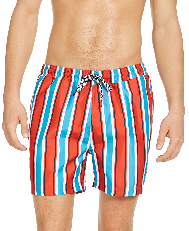 INC Men's Carter Striped 5″ Swim Trunks, .84! HOT DEAL!