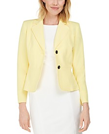 Petite Crepe Two-Button Blazer