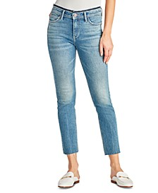 The Kitten Mid Rise Straight-Leg Ankle Jeans