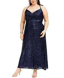 Trendy Plus Size Sequined Gown
