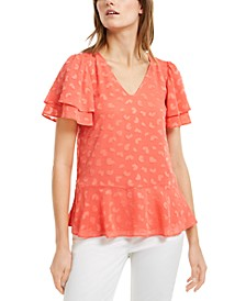 Petal Burnout Top, Regular & Petite