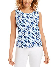 Printed Jacquard Scoop-Neck Top, Created for Macy's