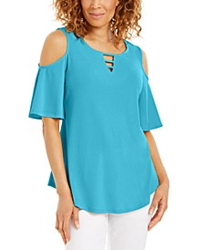 Cutout Cold-Shoulder Top, Created for Macy's
