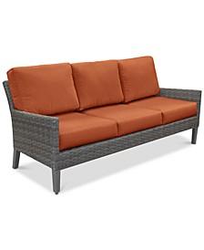 Amari Pepper Outdoor Sofa with Sunbrella® Cushions