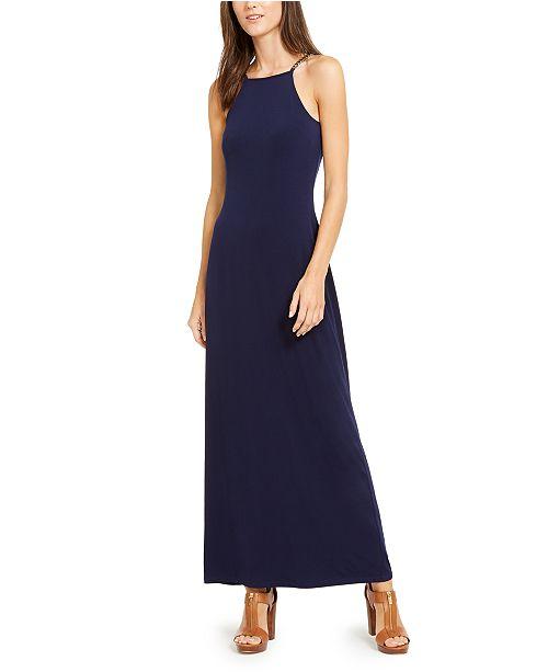 Michael Kors Chain-Link-Strap Maxi Dress