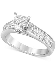 Diamond Princess Solitaire Engagement Ring (1-5/8 ct. t.w.) in 14k White Gold
