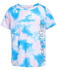 Big Girls Tie-Dye Mesh Logo Graphic T-Shirt