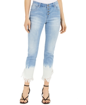 Tie-Dyed Angled-Hem Mop Jeans