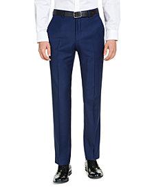 A|X Armani Exchange Men's Modern-Fit High Blue Pindot Suit Pants