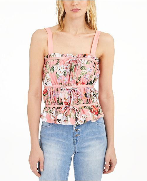 INC International Concepts INC Ruched Tie Tank Top, Created for Macy's