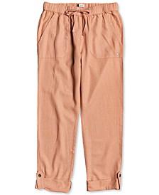 Juniors' On The Seashore Pull-On Utility Pants
