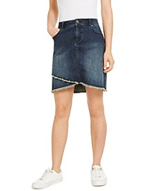 INC Tulip-Hem Jean Skirt, Created for Macy's