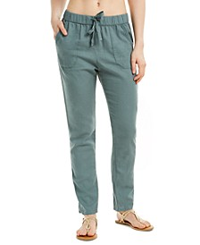 Juniors' On The Seashore Cotton Drawstring Pants