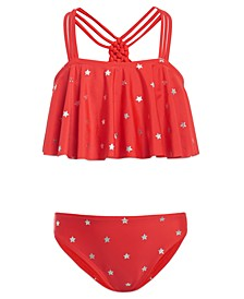 Girl Foil Star Two-Piece Swimsuit