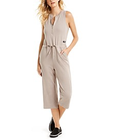Half-Zip Sleeveless Jumpsuit