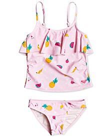2-Pc. Toddler Girls Lovely Aloha Tankini Swimsuit Set