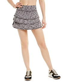 Space-Dyed Flounce Skort, Created for Macy's