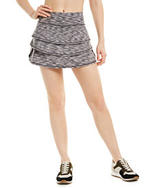 Ideology Space-Dyed Flounce Skort, Created for Macy's