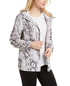 Snake-Print Hooded Jacket, Created For Macy's
