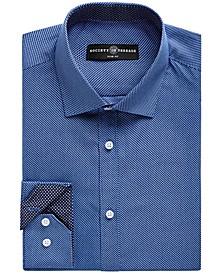 Men's Slim-Fit No-Iron Stretch Zigzag Print Dress Shirt