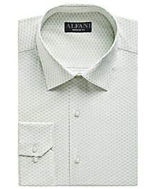 Men's Classic-Fit Rectangle Print Dress Shirt, Created for Macy's