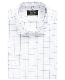 Men's Classic-Fit Twill Windowpane Dress Shirt