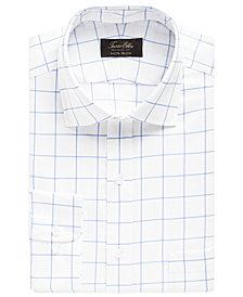 Tasso Elba Men's Classic-Fit Twill Windowpane Dress Shirt