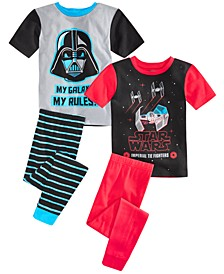 Little & Big Boys 4-Pc. Star Wars Pajama Set