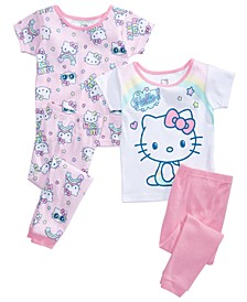 Toddler Girls 4-Pc. Hello Kitty Pajama Set