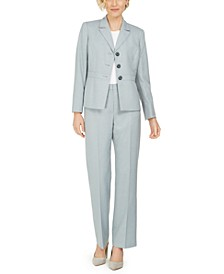 Three-Button Notch Collar Pantsuit