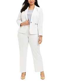 Plus Size Pinstriped Pantsuit