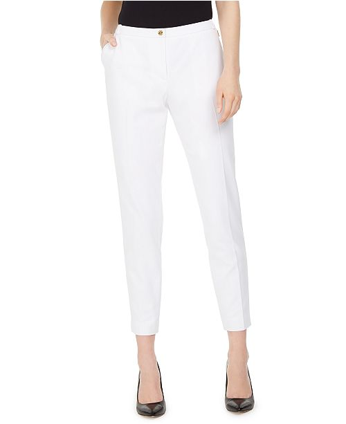 Calvin Klein Slim-Leg Ankle Dress Pants