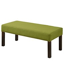 Lilith Fabric Wood Bench