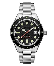 Men's Cahill Mid-Size Automatic Silver-Tone Stainless Steel Bracelet Watch 40mm