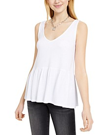 Juniors' Peplum-Hem Tank Top