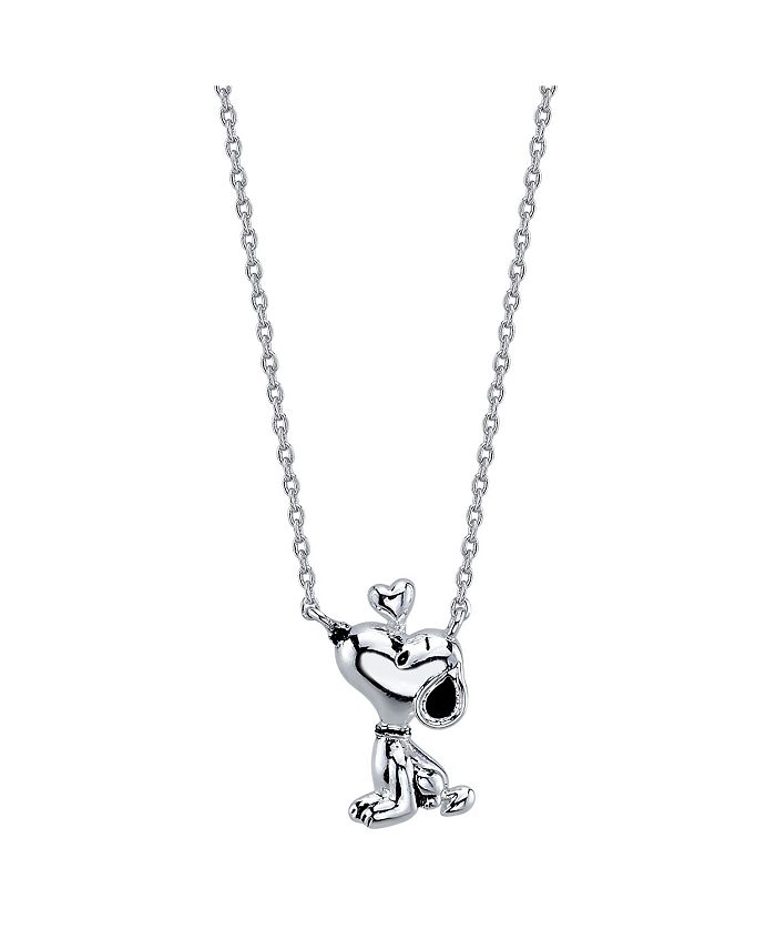 Peanuts - Snoopy Necklace in Fine Silver Plate