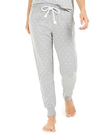 Women's Dot-Print Jogger Pajama Pants