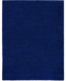 """Cali Shag CAL01 Navy 9'10"""" x 13'2"""" Area Rug"""