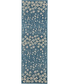 """Peace PEA04 Turquoise 2'3"""" x 7'3"""" Runner Rug"""